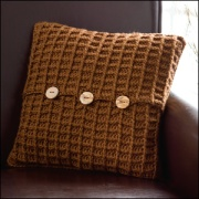 Harvest Home Pillow, Crochet! Magazine, Dec '12