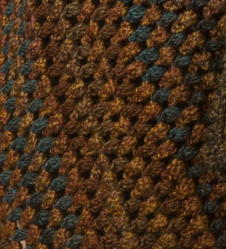 Alternating rows of Tweed Stripes and Homespun