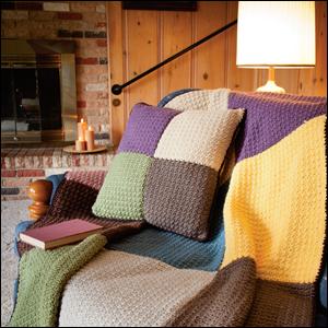 Firelight Lap Robe & Pillow, Crochet World, February 2013