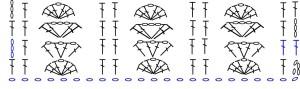 Bellflower Infinity Scarf Stitch Chart