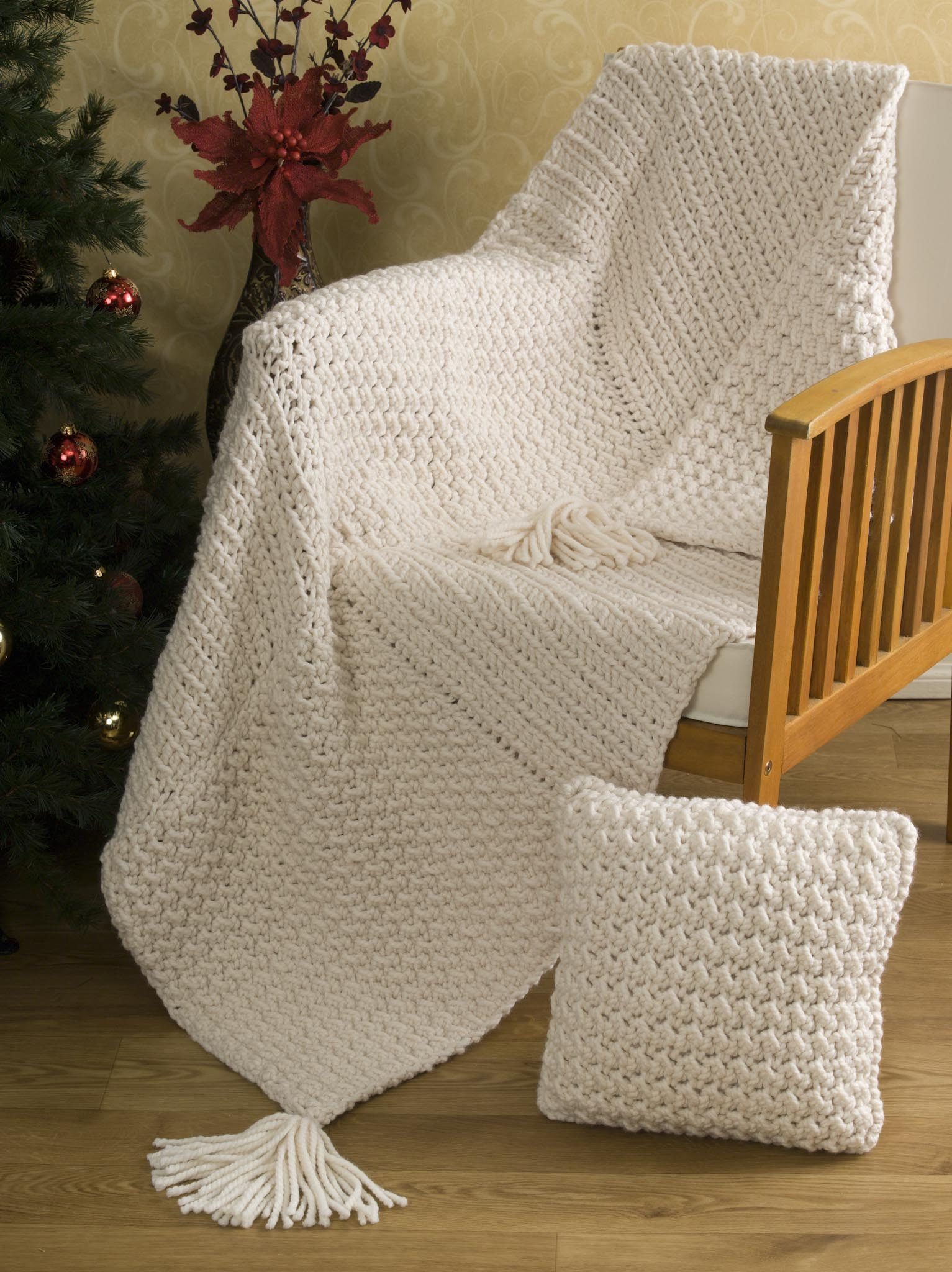 Minty Stripes Baby Blanket And Aran Squared Throw Hooked On