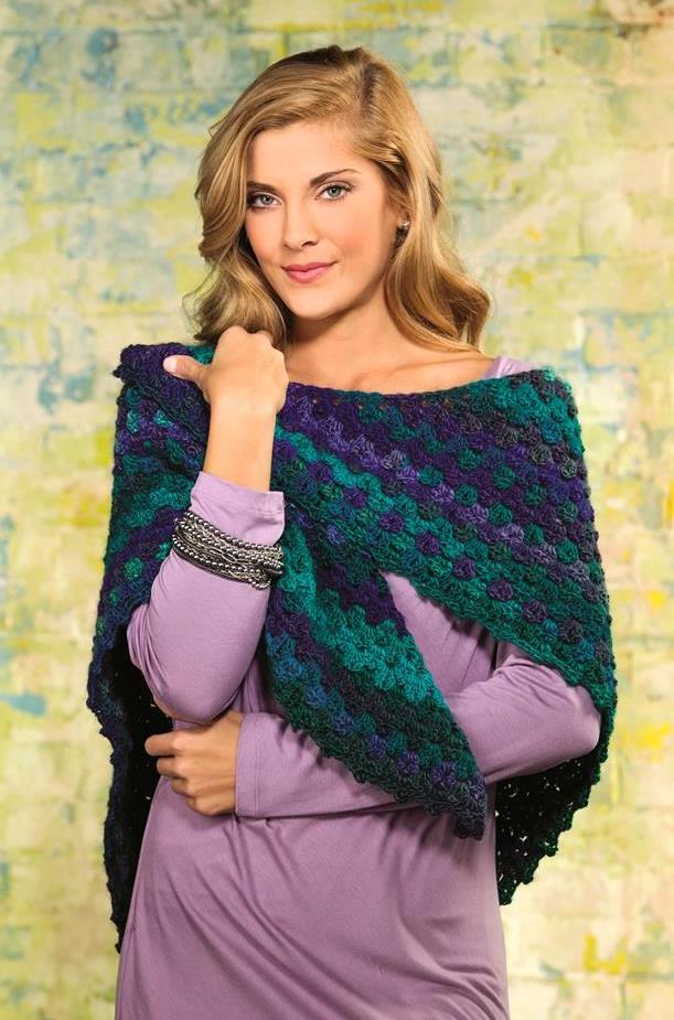 Picot Boo Shawl and Diamond Play Wrap – Crochet World Feb '14 ...