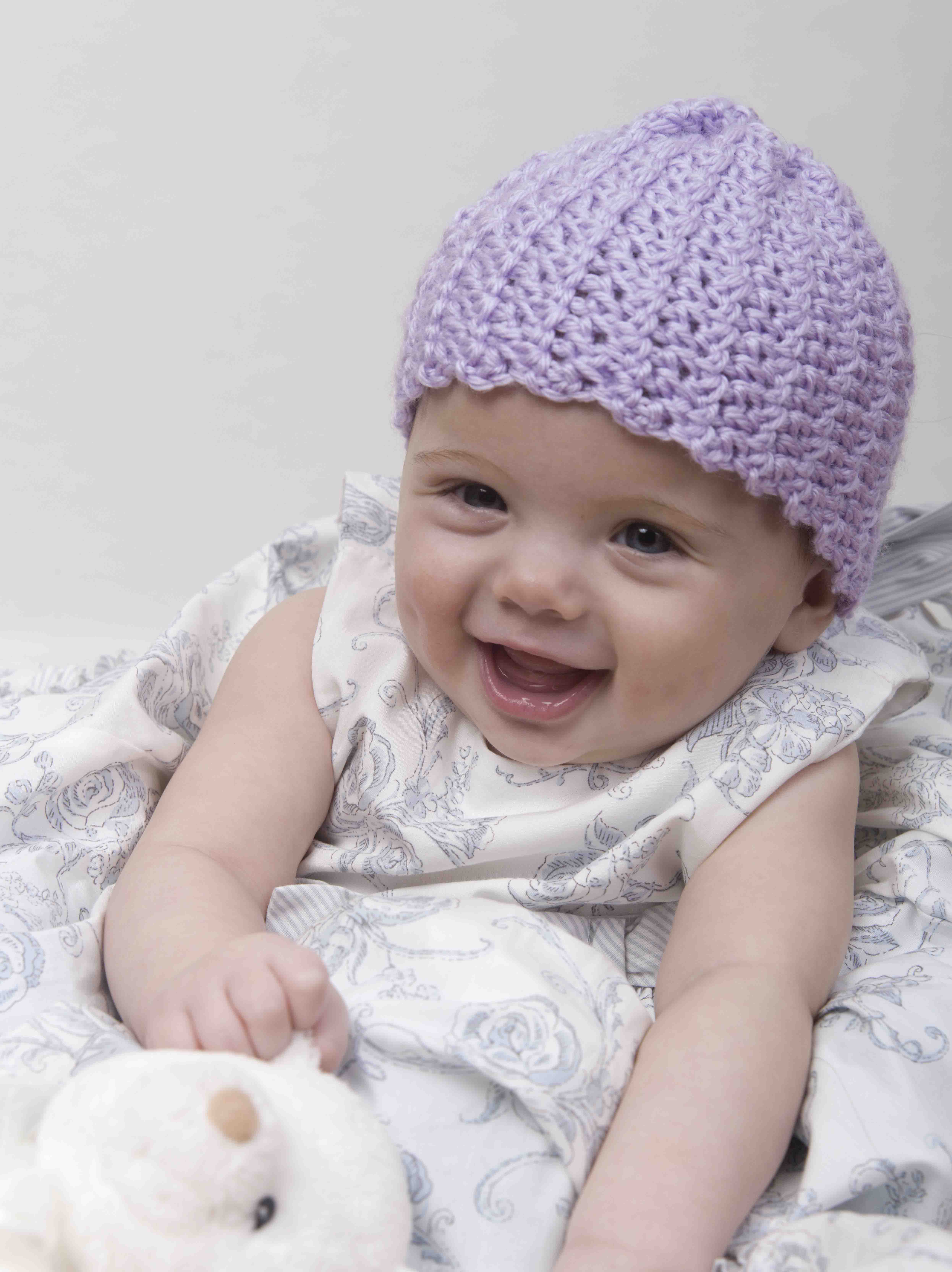 Crochet Baby Hat Hooked On Crafting